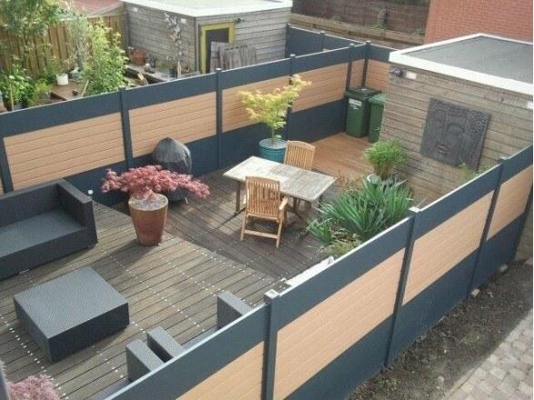 Tuin schutting laten plaatsen loungeset 2017 for Schutting tuin