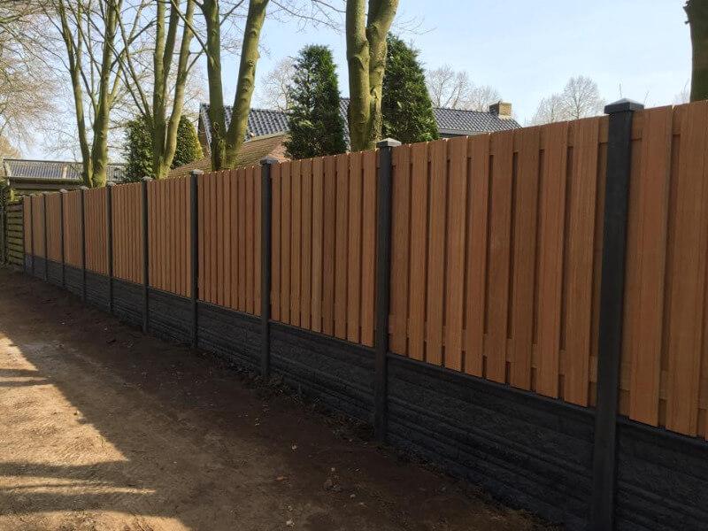 hardhouten hout beton schutting